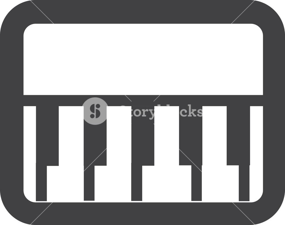 1000x790 Piano Keys Stroke Icon Royalty Free Stock Image