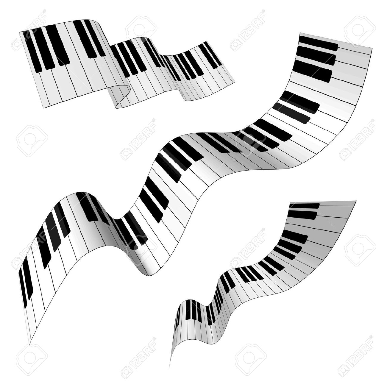 1300x1300 Piano Clipart Curved