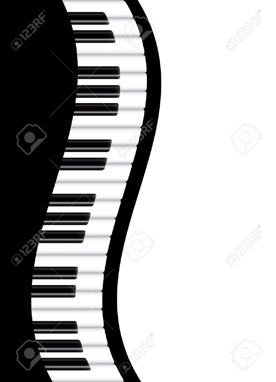 941x1300 Piano Keyboard Clip Art Border Clipart