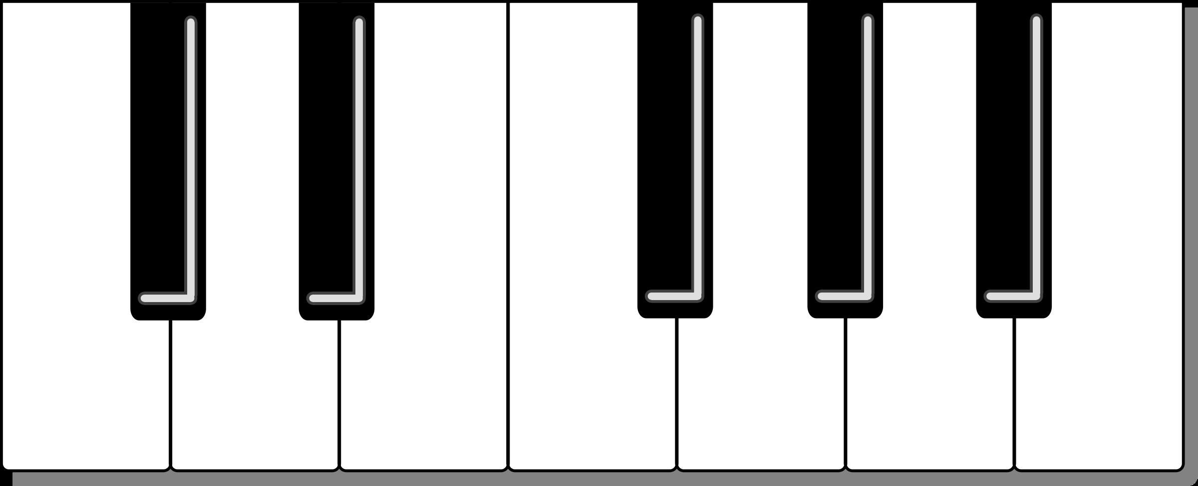 2400x975 Rainbow Piano Keyboard Clip Art Cliparts