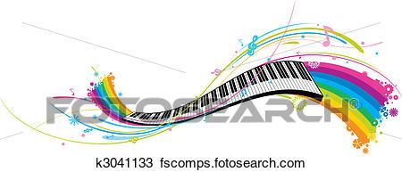 450x193 Clipart Of Piano Key K3041133