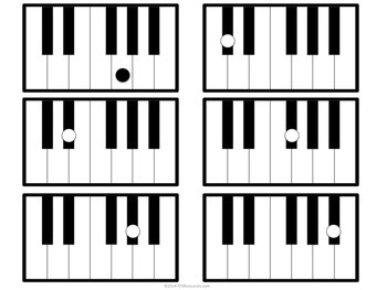 350x263 Piano Keyboard Flashcards By Music Educator Resources Tpt