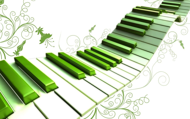 1440x900 Piano Clipart Green