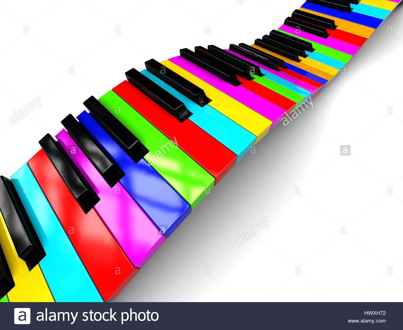 1300x1065 Abstract 3d Illustration Of Colorful Piano Keyboard Over White