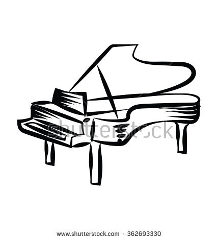 428x470 Drawn Piano Clip Art