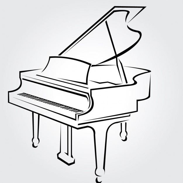 626x626 Piano Outline Cliparts 244393