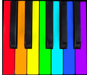 287x246 Rainbow Piano Keyboard Clip Art Cliparts