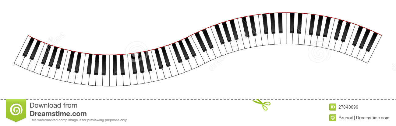 1300x415 Piano Keys In A Wave Clipart