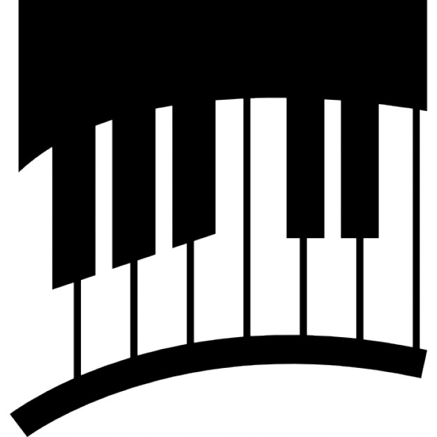 626x626 Piano Keys In Curve Icons Free Download