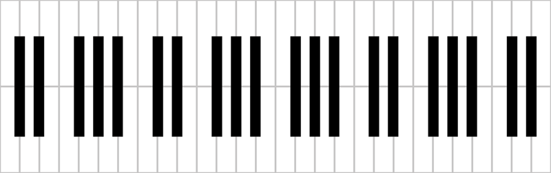 800x252 Piano Keys Pattern By Su G Giftwrap