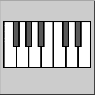 304x304 Clip Art Piano Keys Grayscale I Abcteach