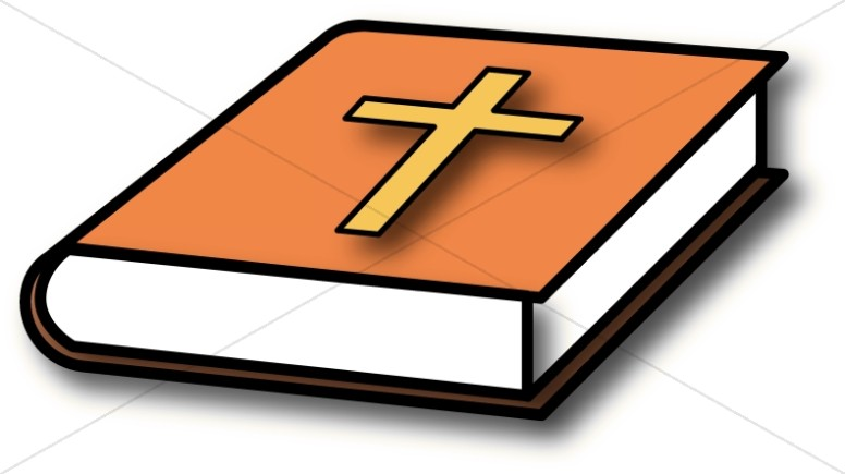 776x435 Bible With Orange Cover Bible Clipart