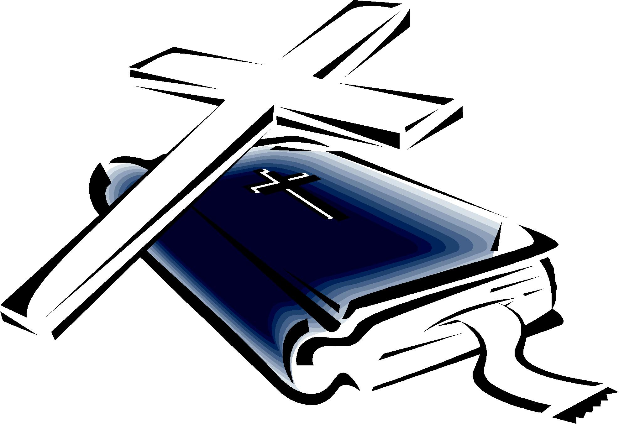 1975x1353 Cross And Bible Clipart