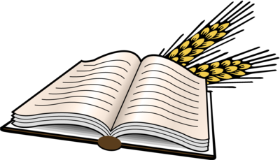 400x229 Image Open Bible With Heads Of Wheat Bible Clip Art