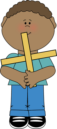 200x450 Boy Holding A Math Plus Sign Clip Art