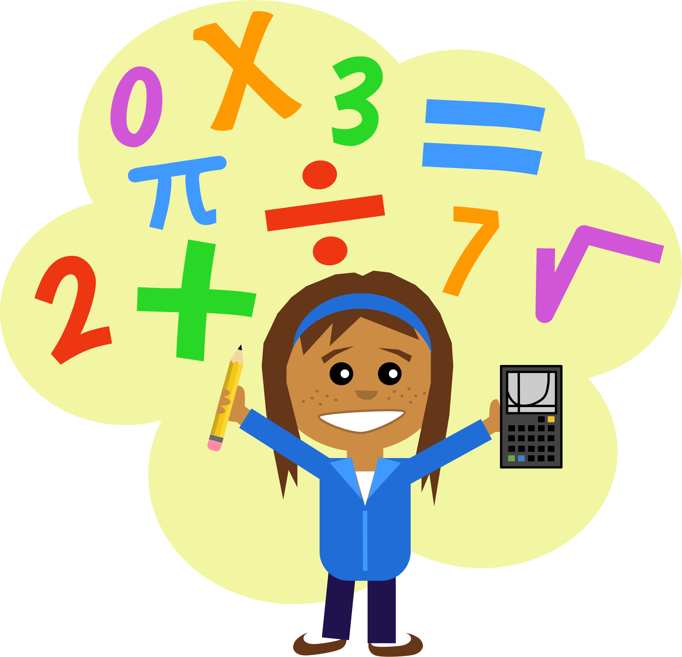 2254x2174 Maths Clipart