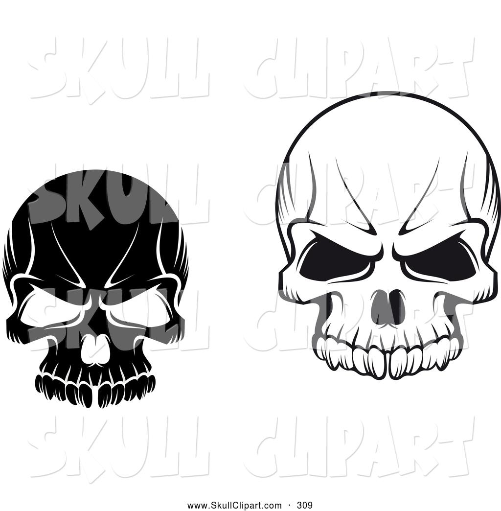 1024x1044 Evil Skull Clipart