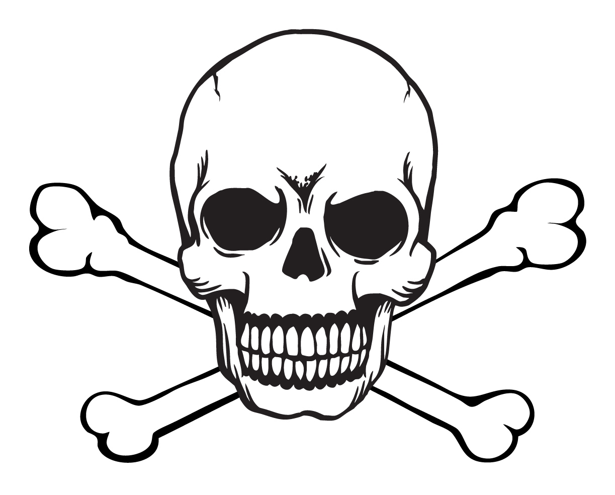 1223x984 Gallery For Clip Art Of Skull And Cross Bones Clipartbold