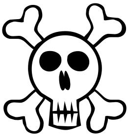 261x281 Skull And Bones Clip Art Download