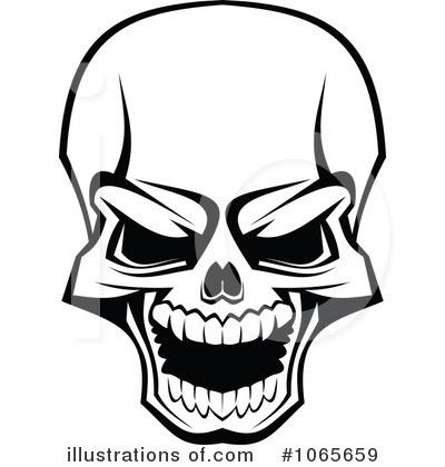 400x420 Skulls Clipart
