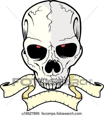 419x470 Clipart Of Skull, Skulls, Death, Doom, Creepy, Scary, Extreme