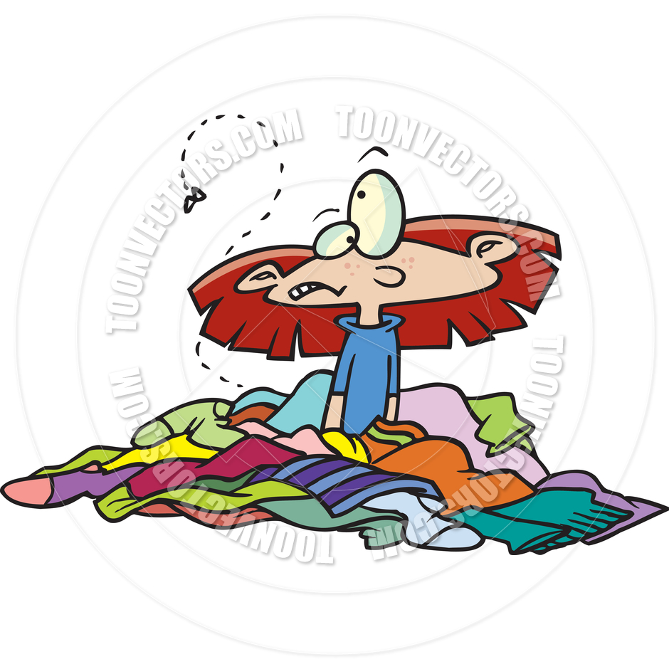 940x940 Bedroom Clipart Messy Clothes 2437159