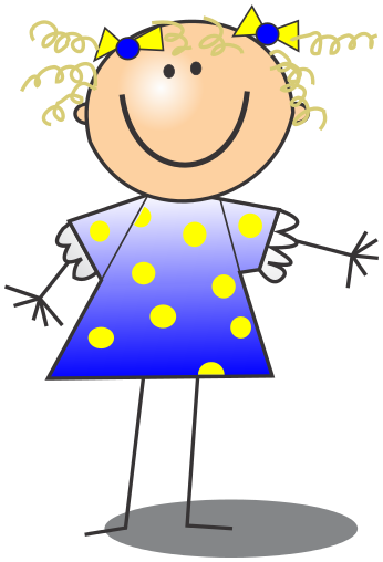 346x508 Stick Figure Girl Clip Art