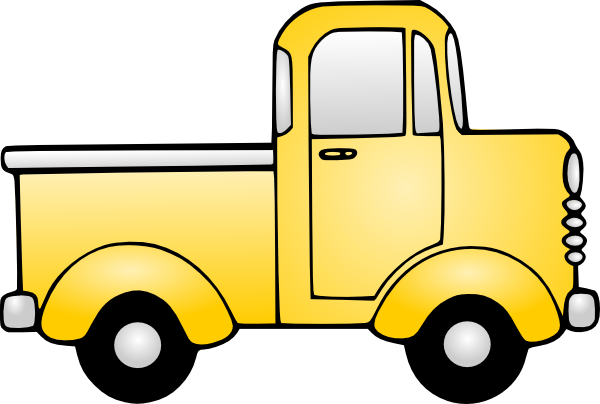 600x404 Pickup Truck Delivery Truck Clipart Image Clip Art A Black Image