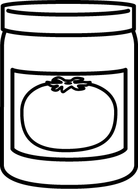 283x388 Black And White Jar Of Spaghetti Sauce Clip Art