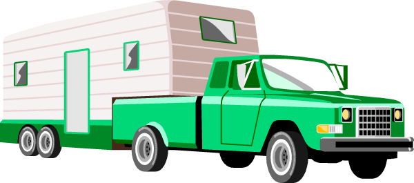 600x265 Camper Clipart Truck And Trailer