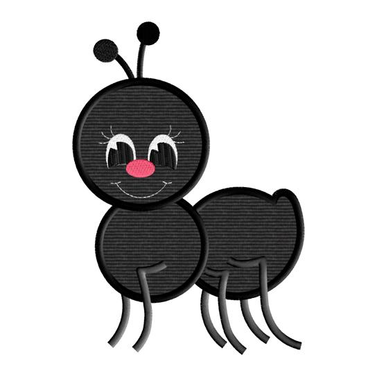 544x544 Picnic Ant Applique