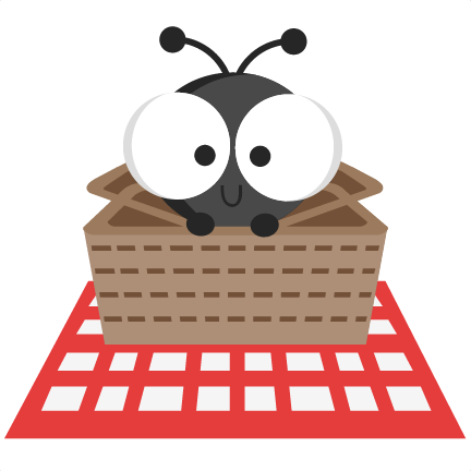 432x432 Ant In Picnic Basket Svg Cutting Files Ant Svg Cuts Ant Scal Files
