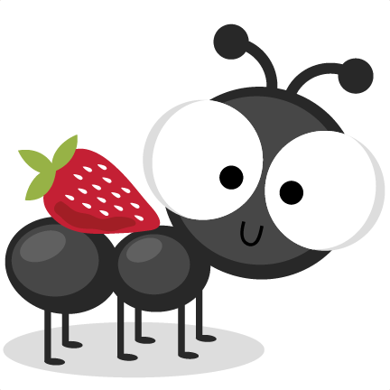 432x432 Ant With Strawberry Svg Cutting Files Ant Svg Cuts Ant Scal Files