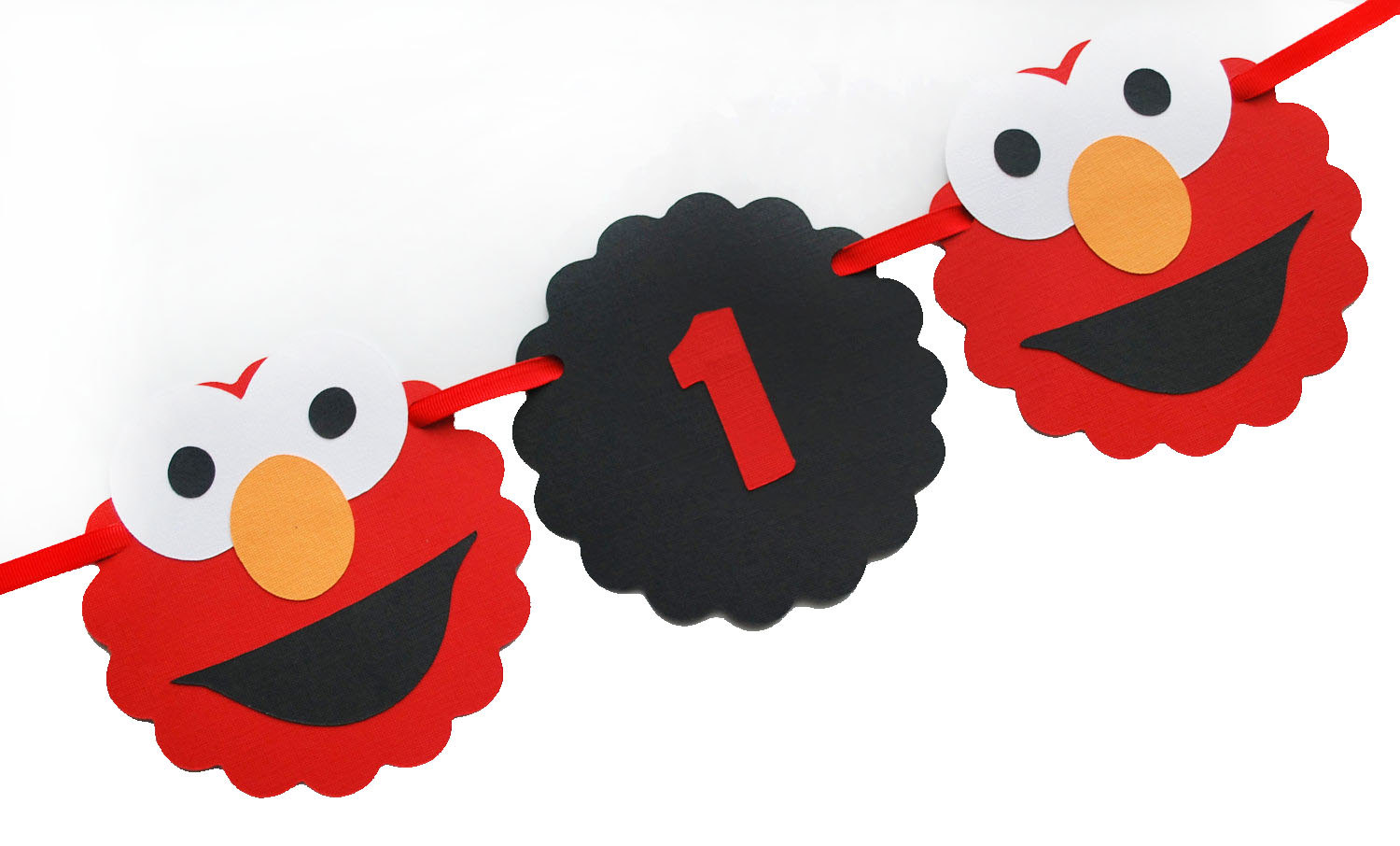 1500x906 Elmo I Am 1 Banner I Am 1 Elmo Head Banner Red And Black