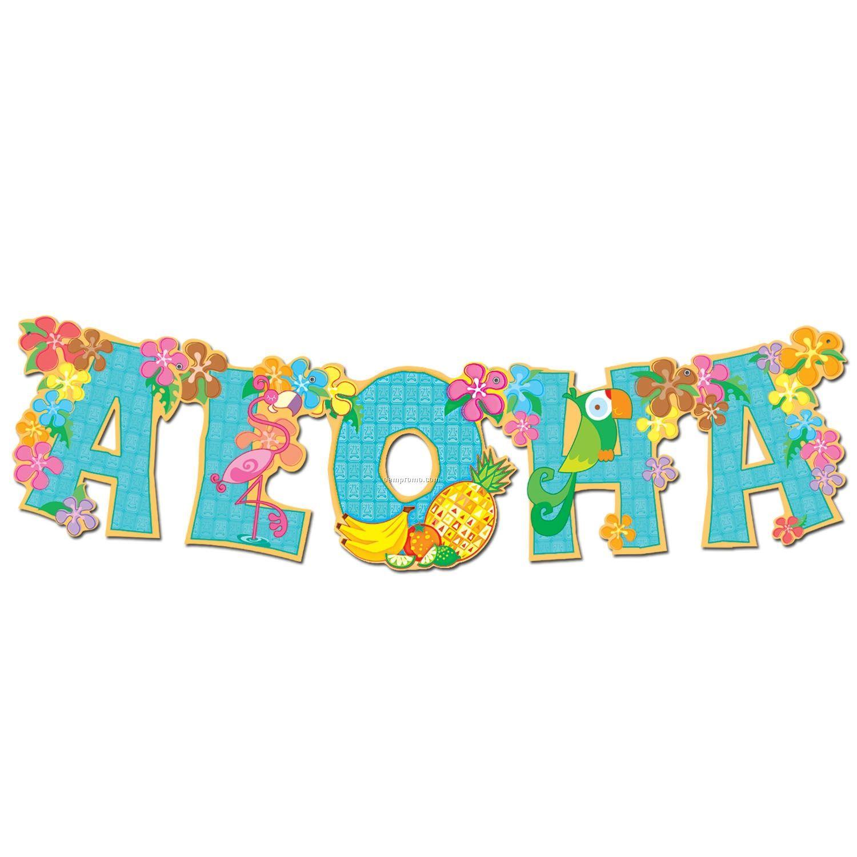1500x1500 Aloha Clip Art Hawaiian Aloha Streamer Banner Jointed Banner