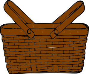 298x249 Brown Clipart Picnic Basket