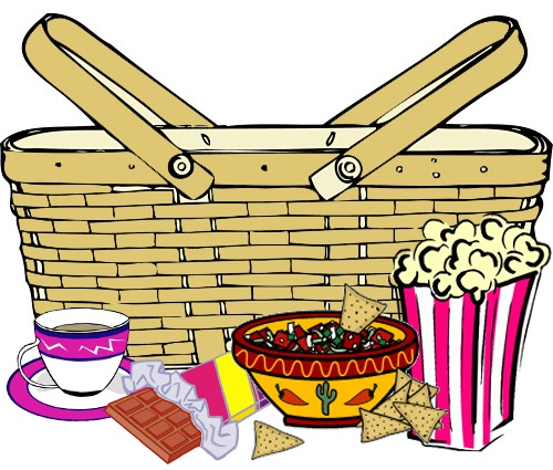 500x425 Cartoon Picnic Basket Clipart