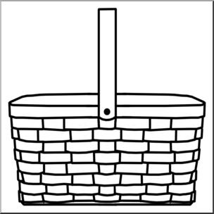 304x304 Clip Art Picnic Basket Bampw I Abcteach