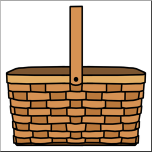 304x304 Clip Art Picnic Basket Color I Abcteach
