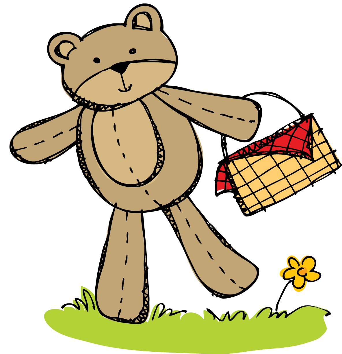 1184x1225 Cute Picnic Basket Clipart