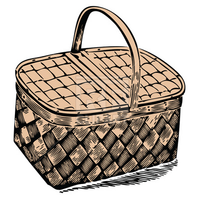 400x400 Picnic Basket Royalty Free Vector Clip Art Image