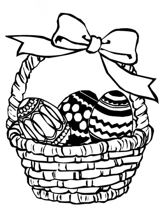 520x673 Clipart Easter Egg Hunt Black And White