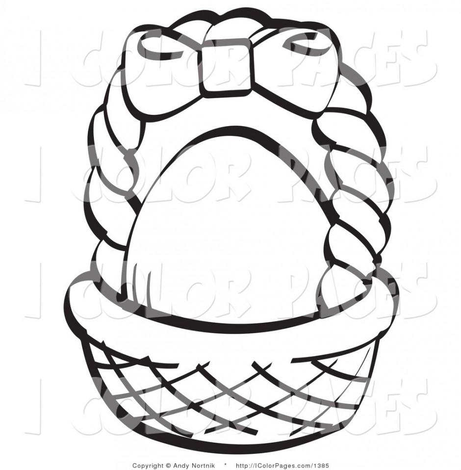 940x958 Cute Picnic Basket Clipart