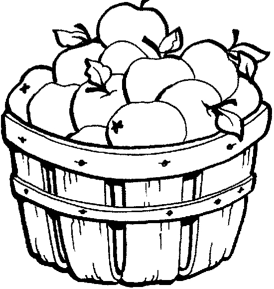 550x579 Drawn Basket Apple Clipart Black And White