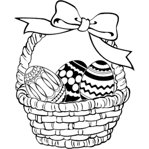 300x300 Easter Basket Clip Art Black And White Happy Easter 2017