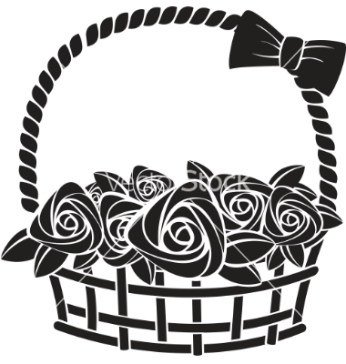 380x400 Gift Basket Cartoon Clipart