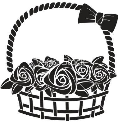 380x400 Gift Basket Cartoon Clipart