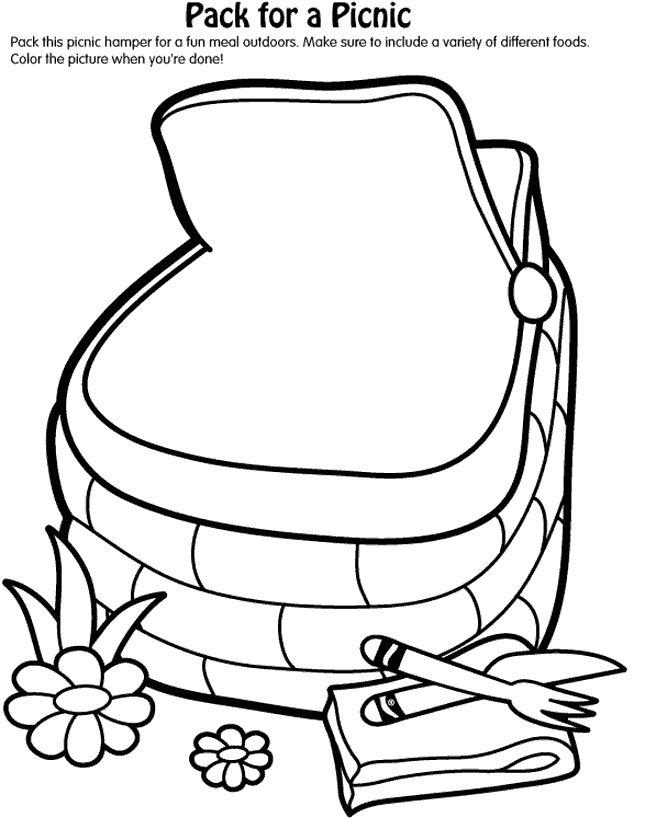645x818 Picnic Basket Clipart Summer Activity