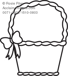 271x300 Basket Clipart Black And White