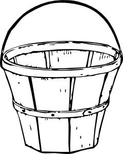 240x300 Quart Basket Clip Art